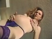 Cheeky pregnant making sweaty sex