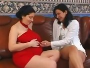 Pregnant mature spoils her friend